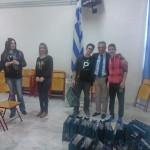 Με προσφορά Σερραϊκών προϊόντων απο το επιμελητήριο Σερρών η υποδοχή 36 μαθητών και καθηγητών από την Ασίζη της Ιταλίας