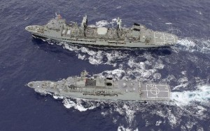 Australian Navy ships continue the search in the southern Indian Ocean for the missing Malaysian Airlines flight MH370