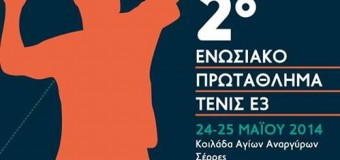2ο Ενωσιακό Πρωτάθλημα Ε3 2014 στις Σέρρες