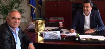 Δ.T. Συνάντηση του προέδρου του επιμελητηρίου Σερρών κ. Χρήστου Μέγκλα με τον Δήμαρχο Εμμ. Παππά κ. Δημήτρη Νότα